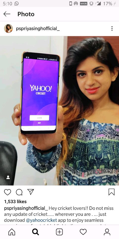 Yahoo Cricket Influencer Marketing 1