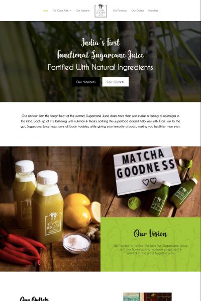 Cane Juicery Website Design Sample