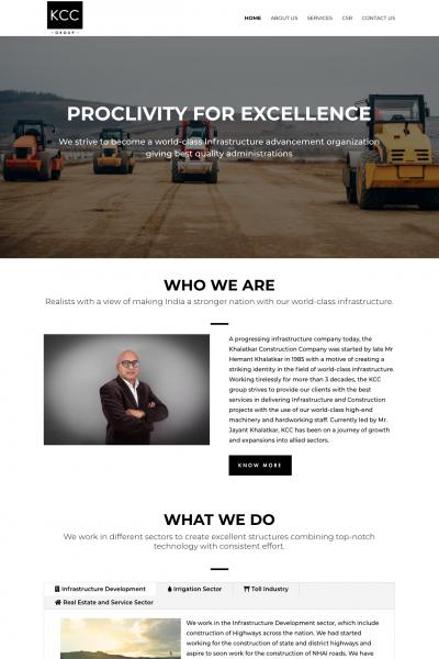 KCC Group Website Design Sample